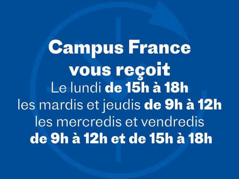 Horaires Campus France